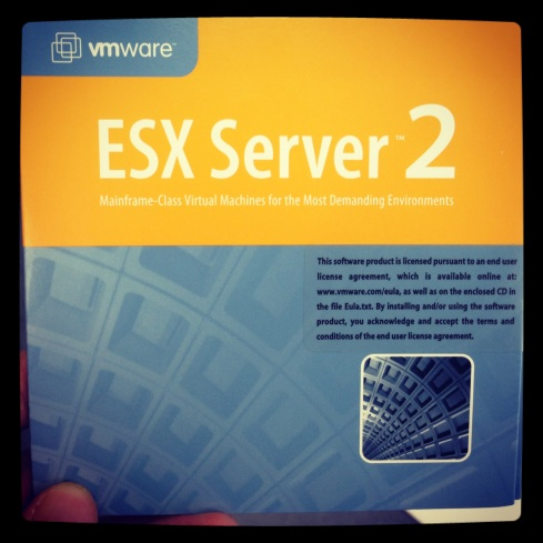 My first ESX installation media